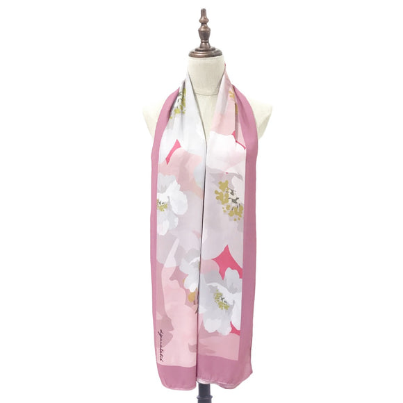 [DISPLAY PIECE] Shawl Printed Chiffon - Camellia in Pink