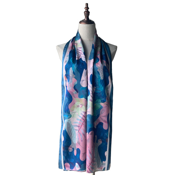 Printed Shawl - Camo Tropical in Blueberry