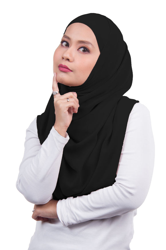 Arissa Chiffon Shawl - Black