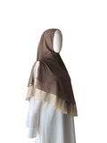 Khimar with Pleats - Coffee Brown