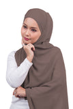 [DISPLAY PIECE] Arissa Chiffon Shawl - Coffee