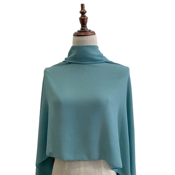 DWI Chiffon Shawl - Dusty Teal