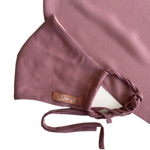 DWI Chiffon Face Mask - Dusty Orchid Pink