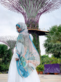 Singapura - Gardens by The Bay Shawl in Teal