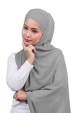 [DISPLAY PIECE] Arissa Chiffon Shawl - Light Grey