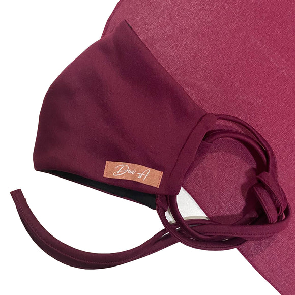 DWI Cotton Face Mask - Maroon