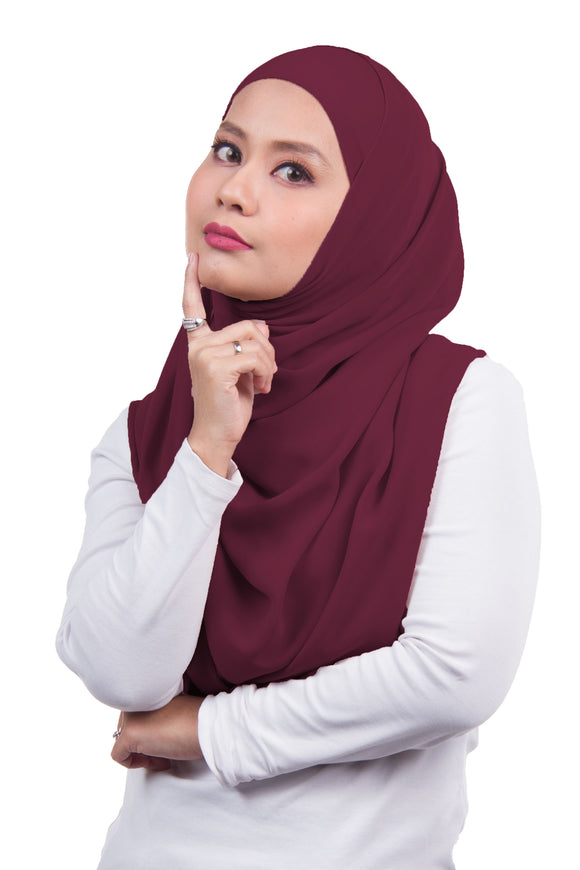 [DISPLAY PIECE] Arissa Chiffon Shawl - Mulberry