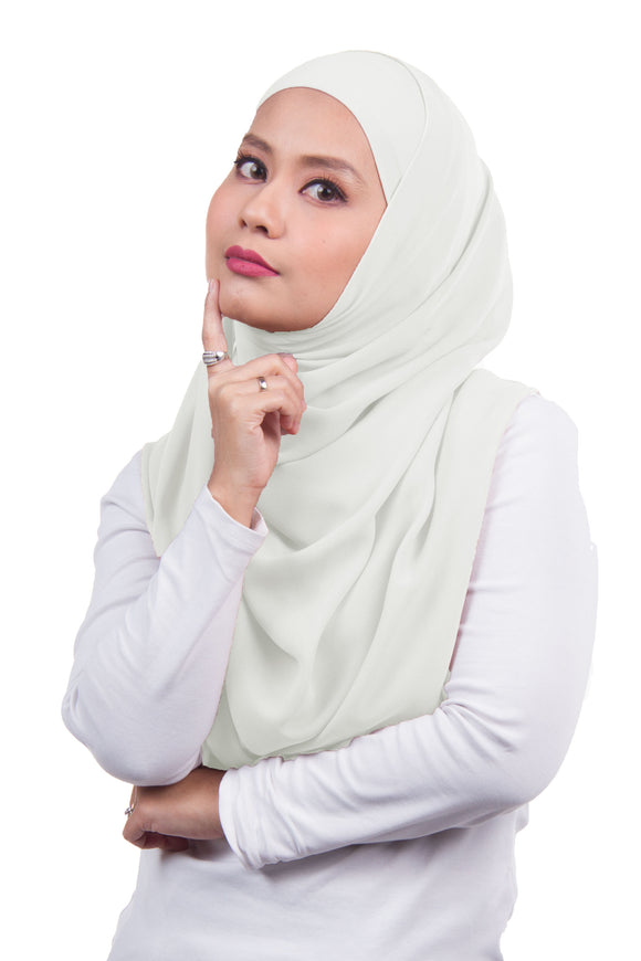 [DISPLAY PIECE] Arissa Chiffon Shawl - Off White