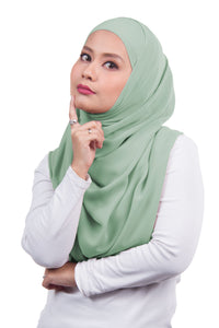 [DISPLAY PIECE] Arissa Chiffon Shawl - Pastel Green