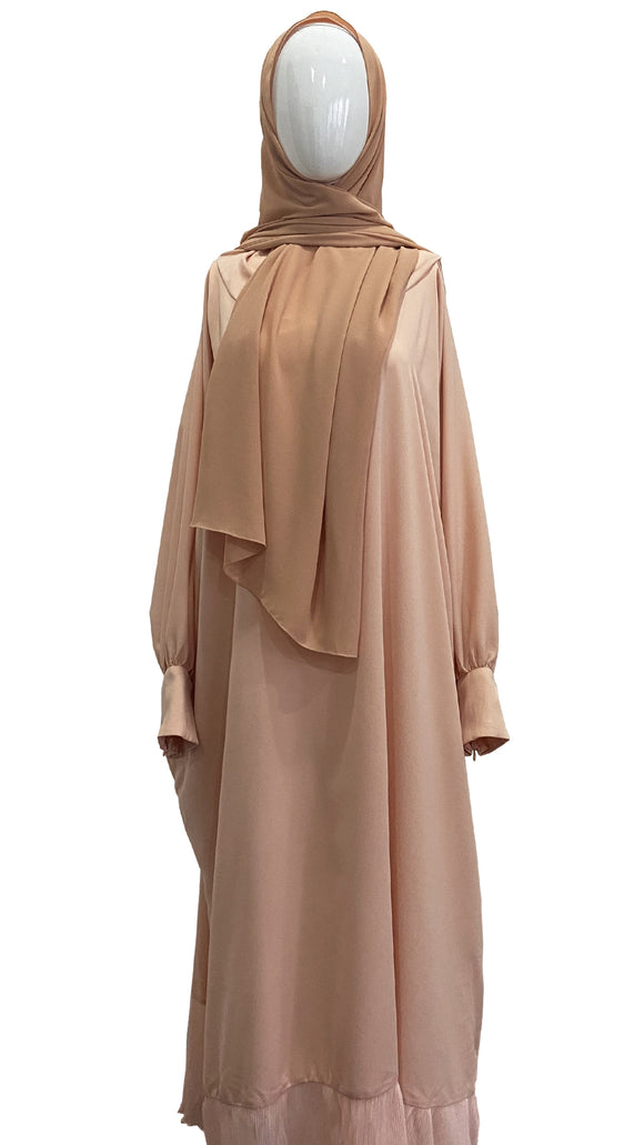 [PRE ORDER] Cotton Telekung Dress - Soft Peach
