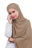 [DISPLAY PIECE] Arissa Chiffon Shawl - Tan