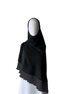 Khimar with Pleats - Black