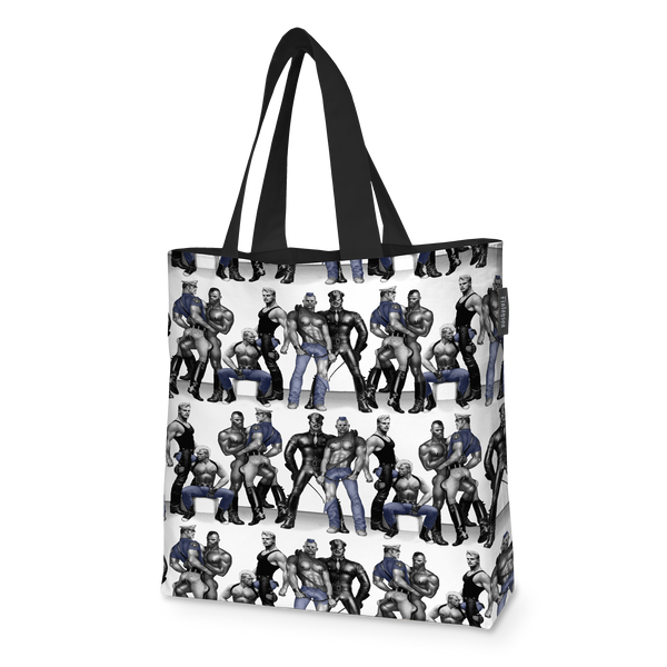 """Blue Squad"" Lined Shopping Bag"