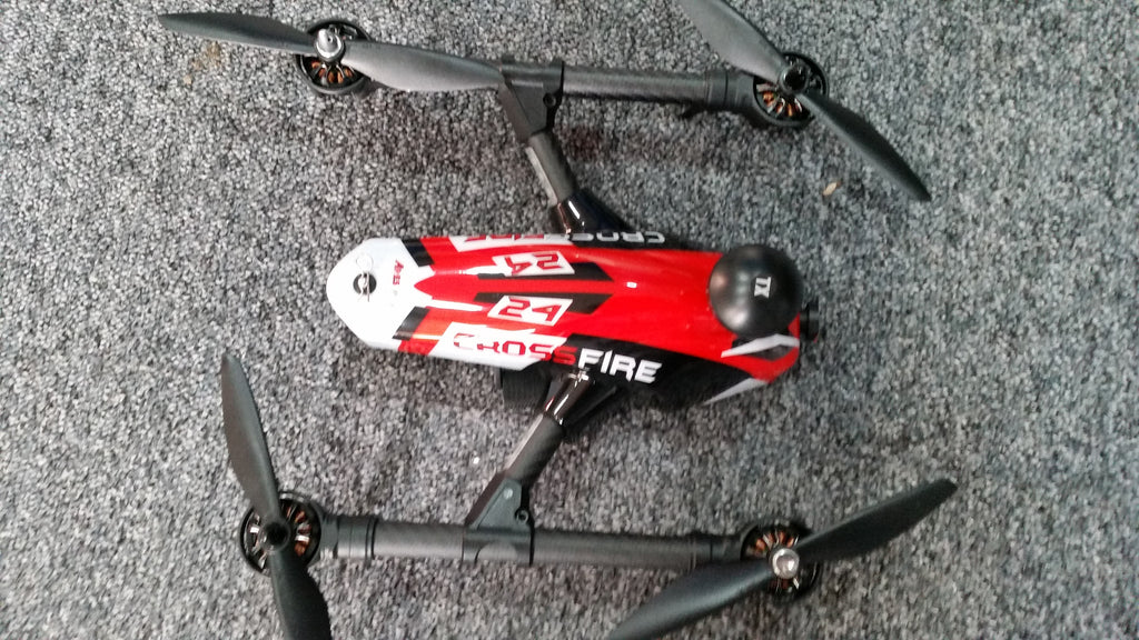 Ares Crossfire Racer Quad RFR: 25mW VTX - Red