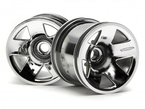 HPI  # 3042 - TYPE F5 TRUCK WHEEL (FRONT/CHROME)