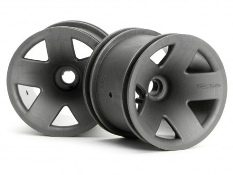HPI  # 3043 - TYPE F5 TRUCK WHEEL (FRONT/GUN METAL)