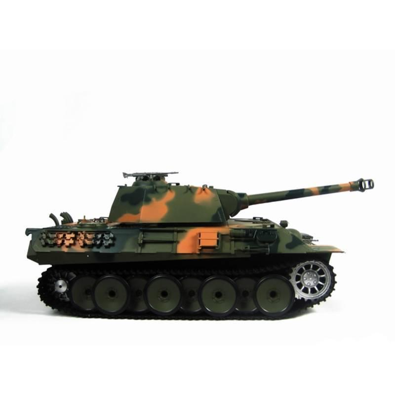 Henglong 1:16 German Panther (2.4GHz+Shooter+Smoke+Sound) RC Tank - RTR