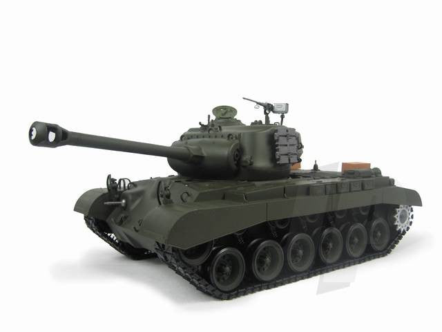 Henglong 1:16 US M26 Pershing (2.4GHz+Shooter+Smoke+Sound) RC Tank - RTR