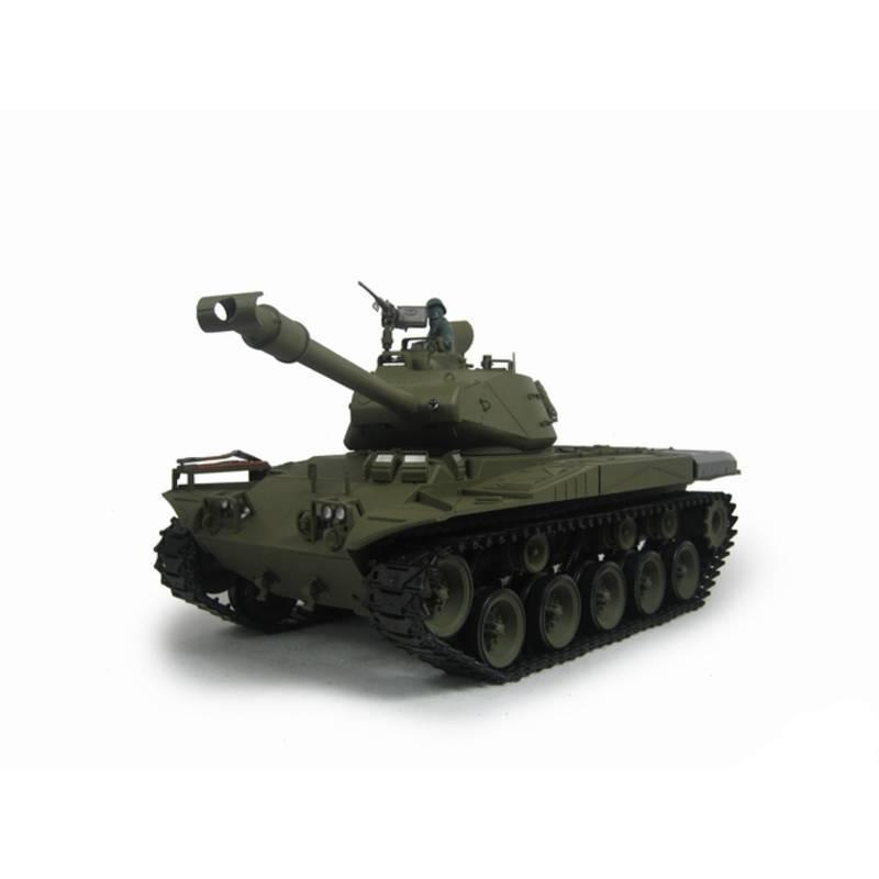 Henglong 1:16 US M41A3 Walker Bulldog (2.4GHz+Shooter+Smoke+Sound) RC Tank - RTR