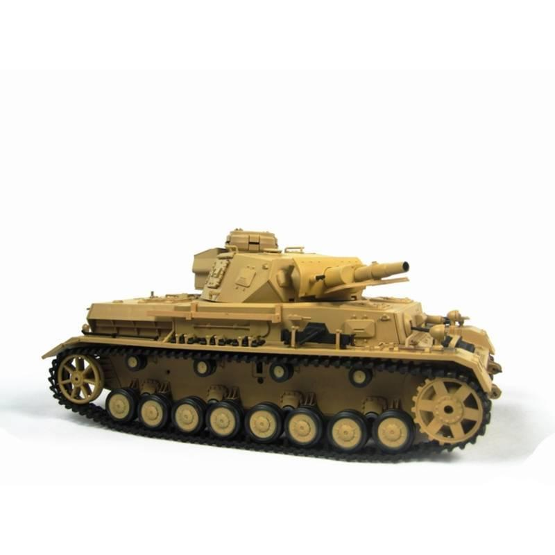 Henglong 1:16 German Panzer IV F1 Tank (2.4GHz+Shooter+Smoke+Sound) RC Tank - RTR