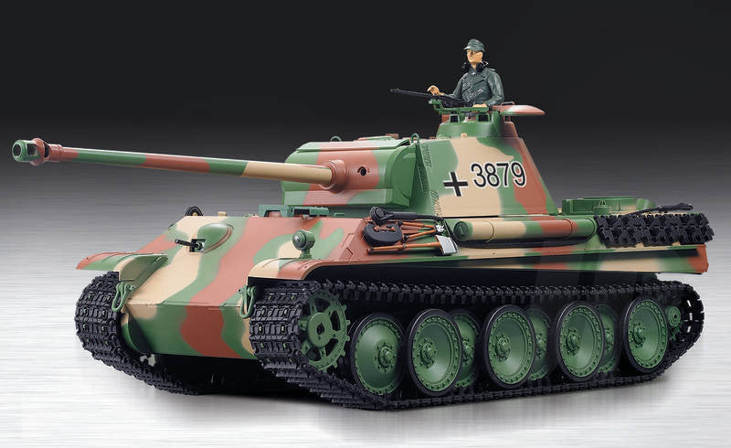 Henglong 1:16 German Panther Type G (2.4GHz+Shooter+Smoke+Sound) RC Tank - RTR