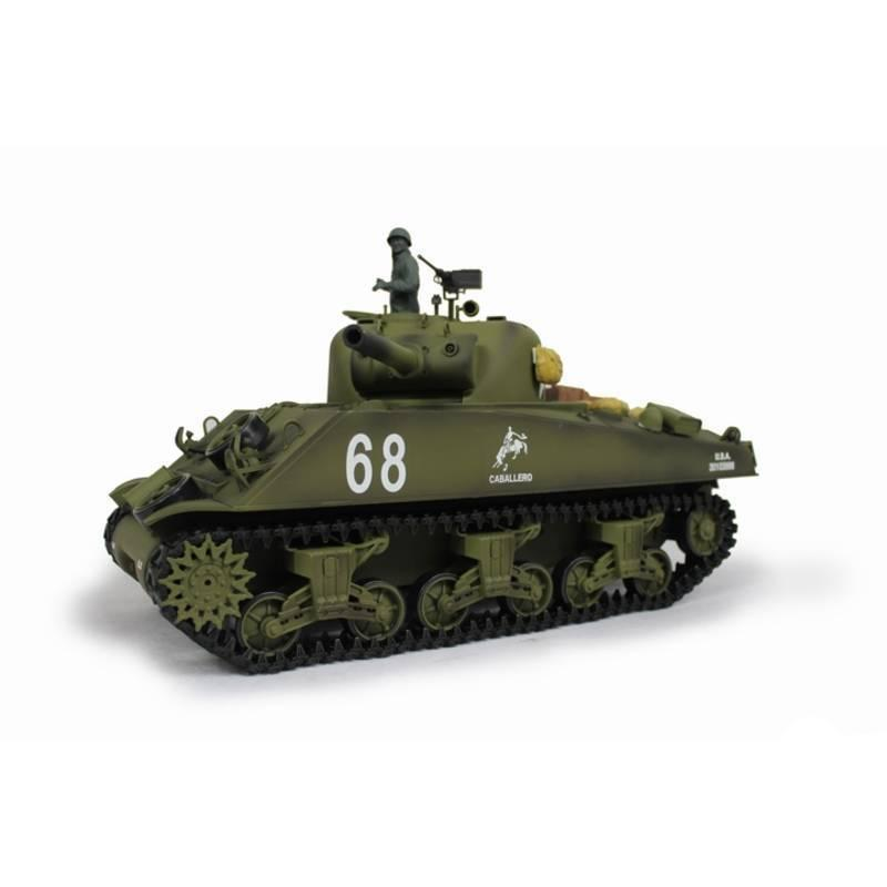 Henglong 1:16 US M4A3 Sherman (2.4GHz+Shooter+Smoke+Sound) RC Tank - RTR