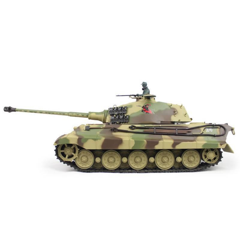 Henglong 1:16 German King Tiger Henschel (2.4GHz+Shooter+Smoke+Sound) RC Tank - RTR