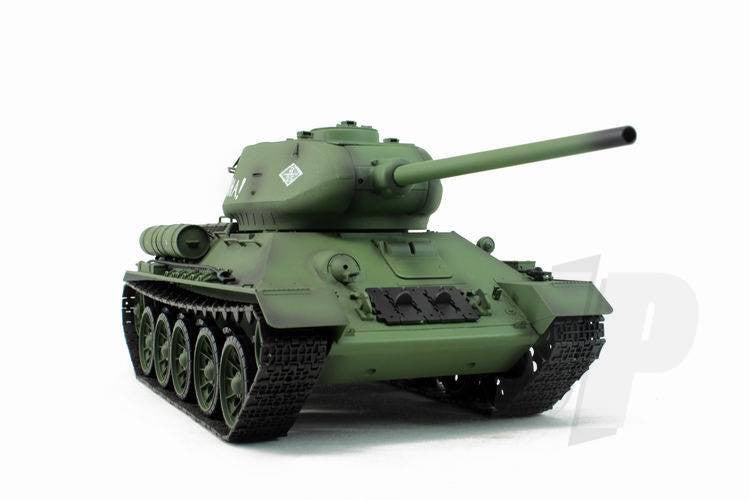 Henglong 1:16 Russian T-34/85 1944 Tank (2.4GHz+Shooter+Smoke+Sound) RC Tank - RTR