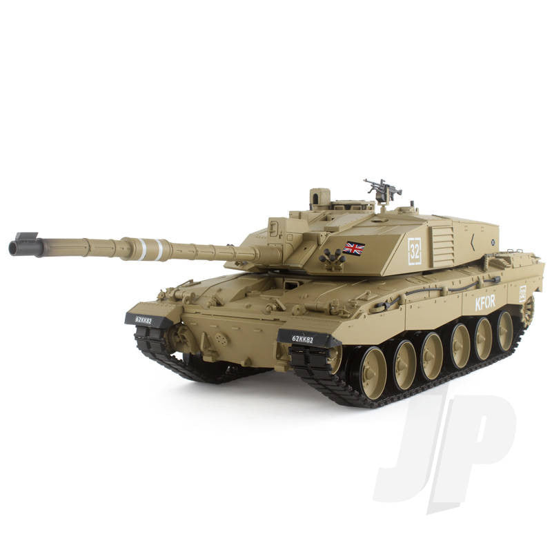 Henglong 1:16 British Challenger 2 (2.4GHz+Shooter+Smoke+Sound) RC Tank - RTR