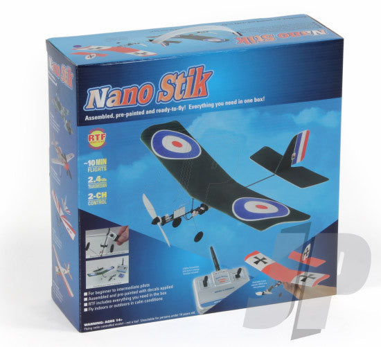 eRC Nano Stik Indoor/Outdoor Electric RC Plane - RTF