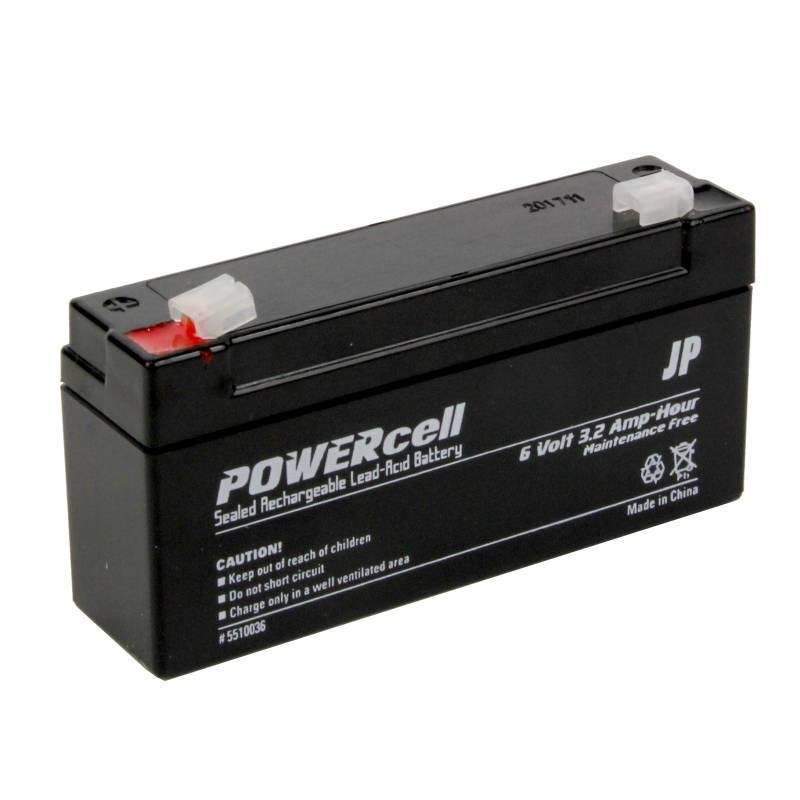6V 3.2Ah Powercell Gel Battery