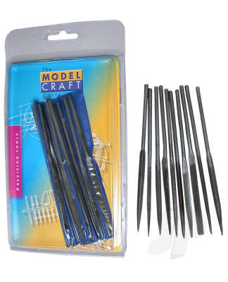Modelcraft Budget Needle File (Set of 10)