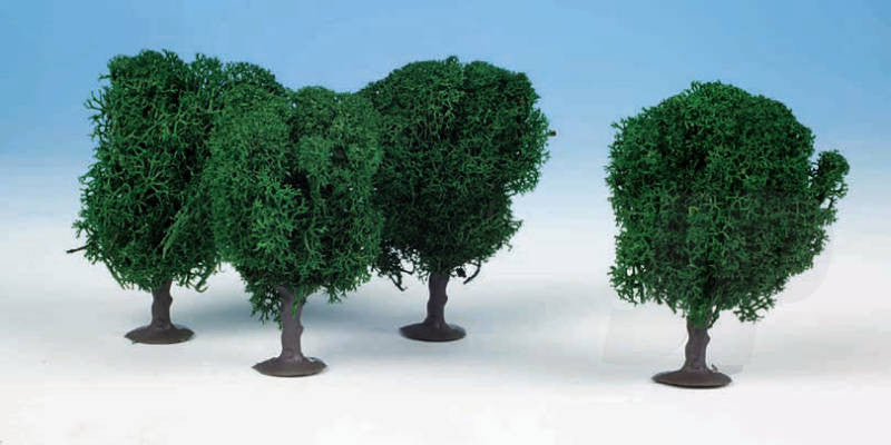 Heki 1030 4 Lichen Avenue Trees 7cm (Dark Green)