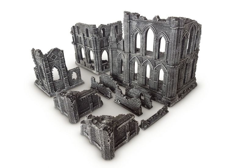 Gamemat.eu 28mm Gothic Ruins Set 2 for Warhammer, Age of Sigmar