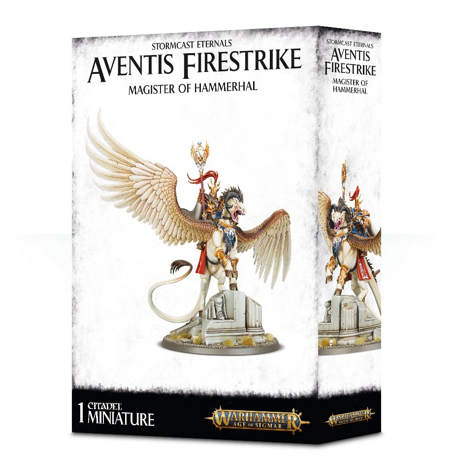 Warhammer Age of Sigmar Aventis Firestrike: Magister of Hammerhal/Lord-Arcanum on Tauralon