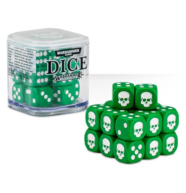 Warhammer 40K Dice Cube - 20 Colored 12mm Dice