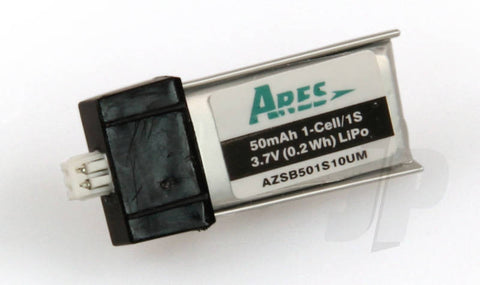 eRC 50mAh 1-Cell/1s 3.7V 10cLiPo Battery for Ares Sopwith Pup
