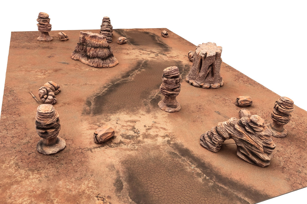 Gamemat.eu 28mm Badlands Terrain Set for Warhammer, Age of Sigmar