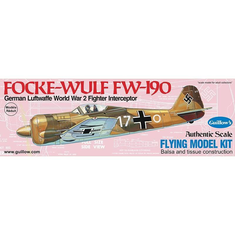 Guillows Focke-Wulf Fw-190 Balsa Kit