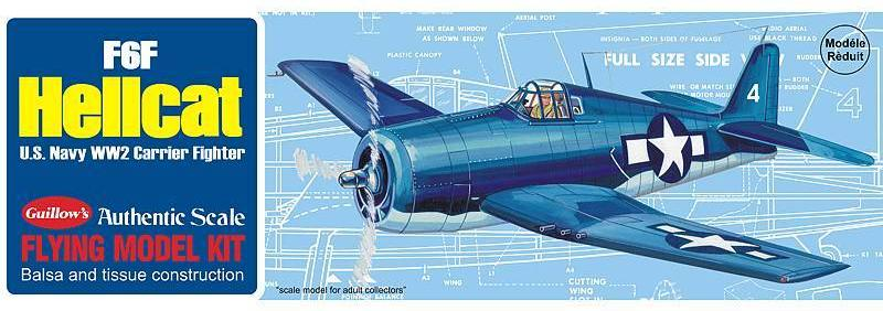 Guillows F6F Hellcat Balsa Kit