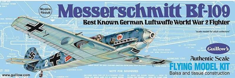 Guillows Messerschmitt BF-109 Balsa Kit
