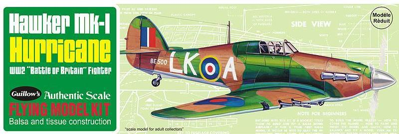 Guillows Hawker Mk-I Hurricane Balsa Kit