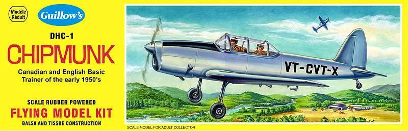 Guillows DHC-1 Chipmunk Balsa Kit