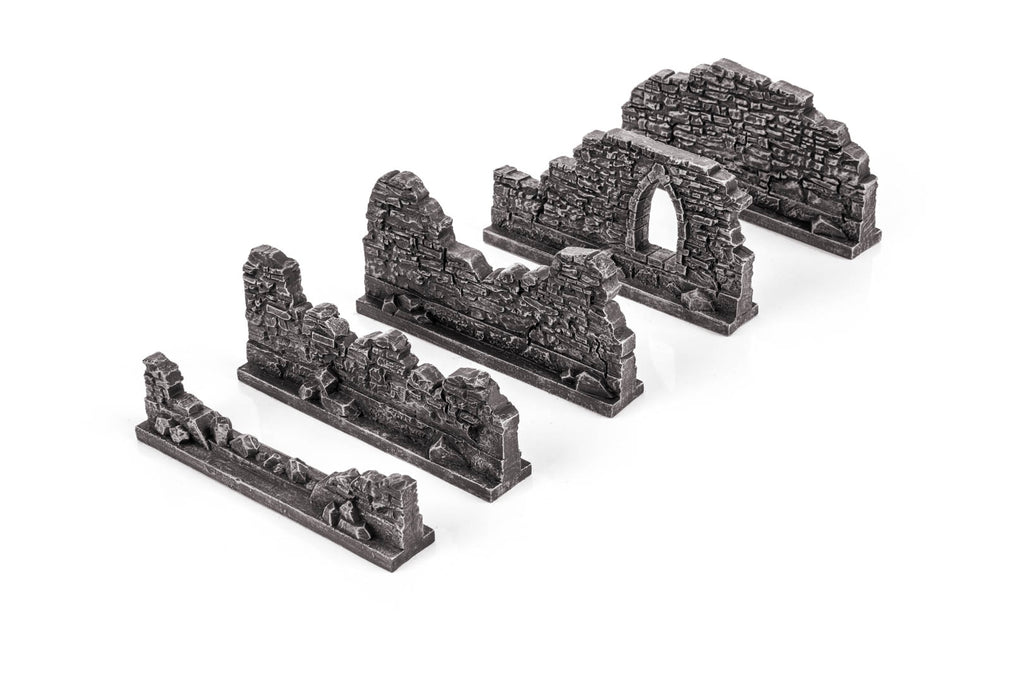 Gamemat.eu 28mm Gothic Walls Set for Warhammer, Age of Sigmar etc.