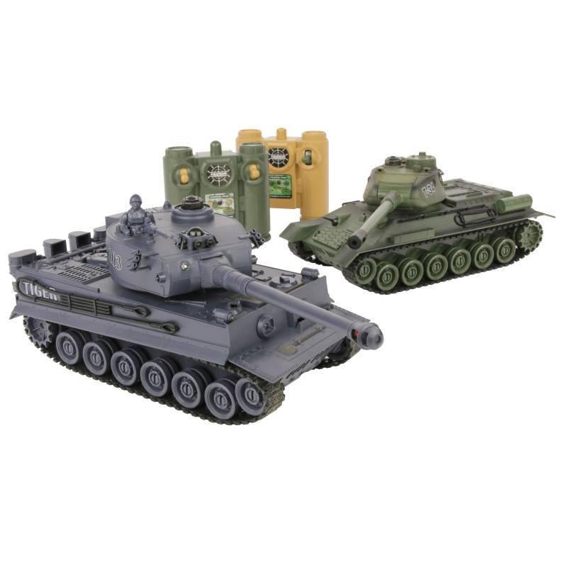 Zegan 1:28 2.4GHz Battle Tanks RTR 1x Russian T-34 1x German Tiger