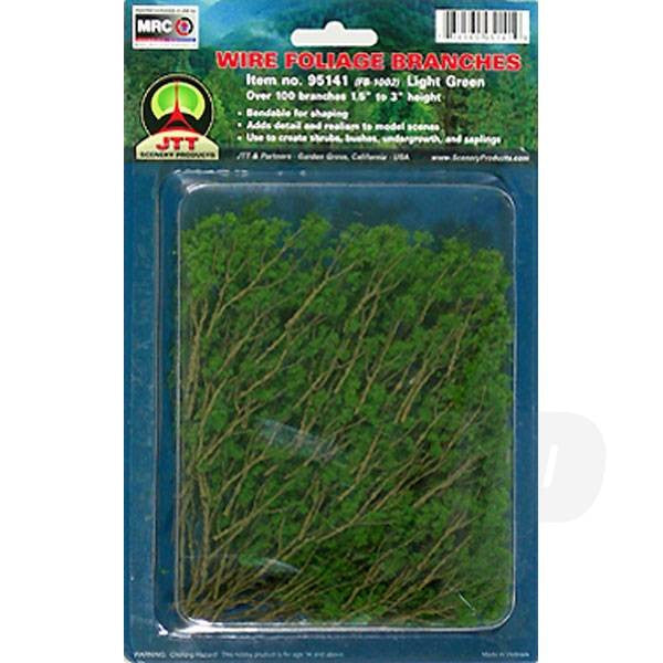 JTT 95518 Light Green Branches, 1.5 to 3, (60 per pack)