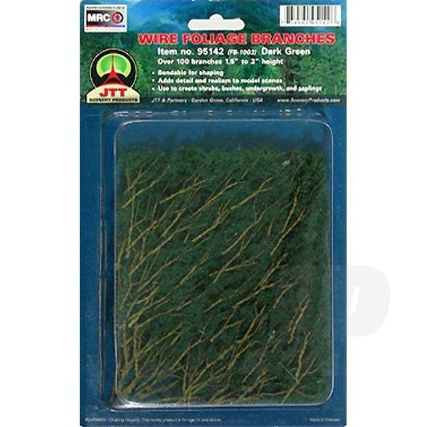 JTT 95520 Dark Green Branches, 1.5 to 3, (60 per pack)