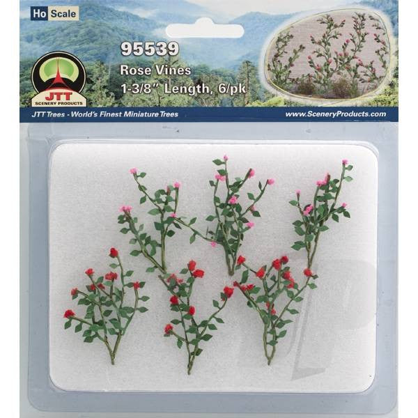 JTT 95539 Rose Vines, 1-3/8 Tall, HO-Scale, (6 per pack)