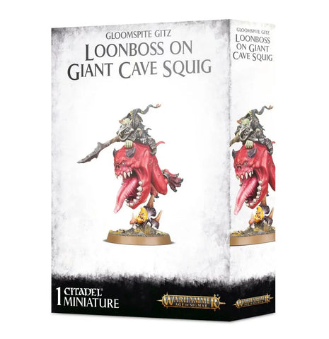 Warhammer Age of Sigmar Loonboss on Giant Cave Squig