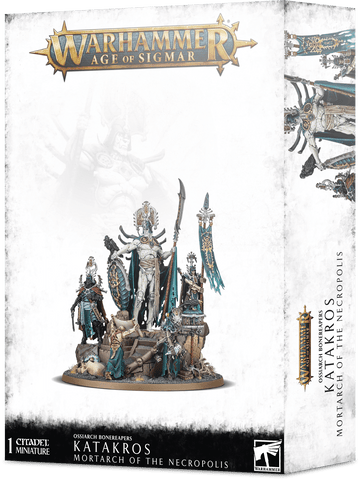 Warhammer Age of Sigmar Ossiarch Bonereapers Katakros, Mortarch of the Necropolis